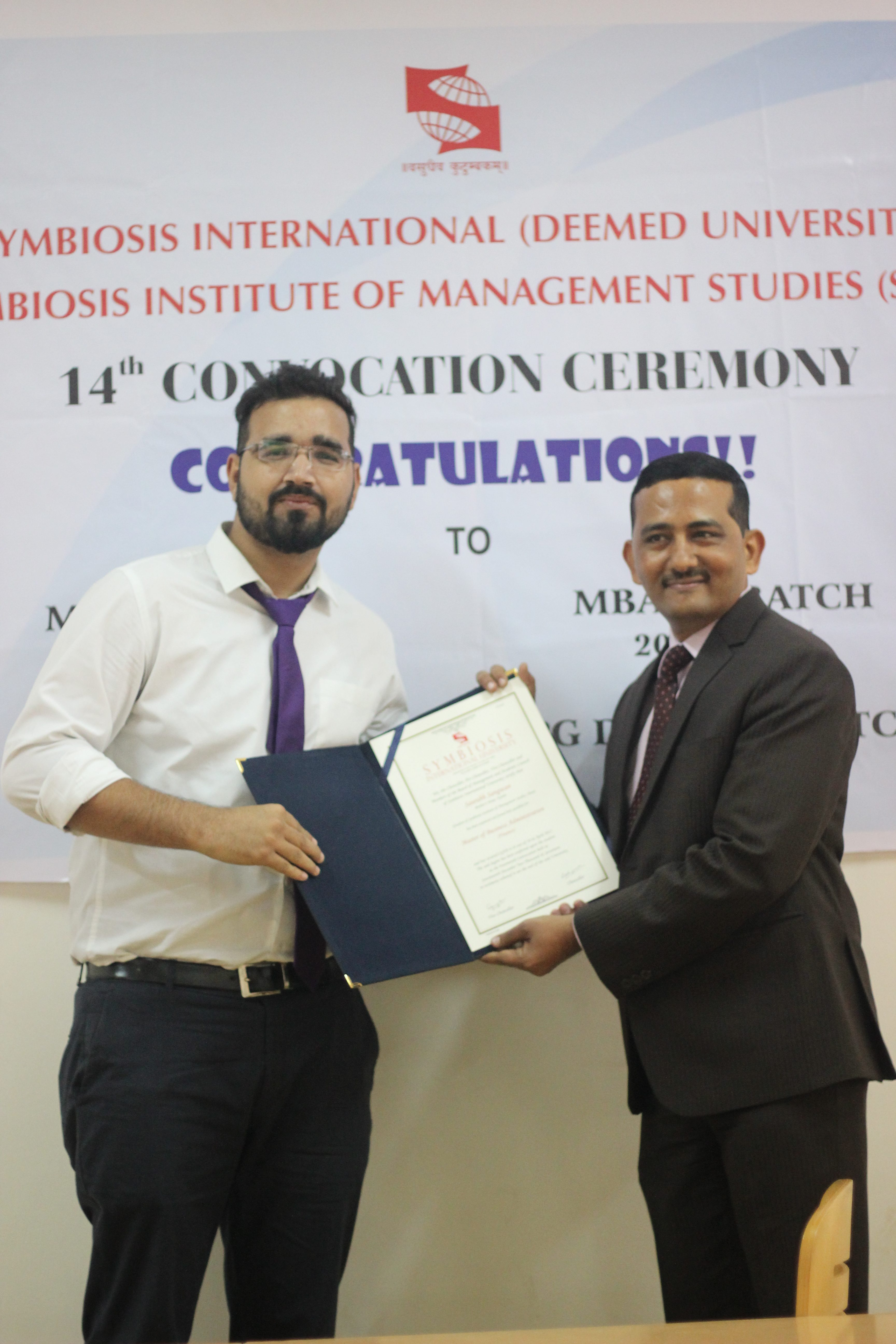 Award Function At Symbiosis Institute Of Management Studies